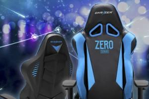 DxRacer OH/RB1/NB – обзор геймерского кресла с синей подсветкой